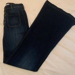 Size 9 - high waisted flare jeans! NEVER WORN!